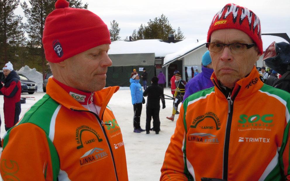 Hessu ja Teuvo odottelevat SM-sprintin lähtöä